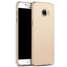 Ultra Slim Fit Shell Hard Plastik Penuh Pelindung Anti-Gores Cover Case untuk IPhone Samsung Galaxy C7 (frosted GOLD) -Intl