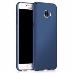 Ultra Slim Fit Shell Hard Plastik Penuh Pelindung Anti-Gores Cover Case untuk IPhone Samsung Galaxy C7 (silky Blue) -Intl