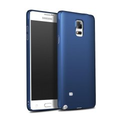 Ultra Slim Fit Shell Hard Plastik Penuh Pelindung Anti-Gores Cover Case untuk IPhone Samsung Galaxy Note 4 (Silky Biru) -Intl