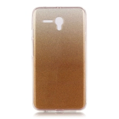 Ultra Slim Fit Lembut Tpu Telepon Kembali Case Cover untuk Alcatel OneTouch Pop 3 5.5 Inch (GOLDEN)
