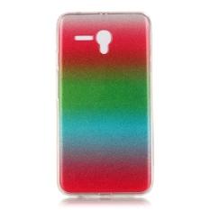 Ultra Slim Fit Lembut Tpu Telepon Kembali Case Cover untuk Alcatel OneTouch Pop 3 5.5 Inch (merah + Hijau + Langit Biru)
