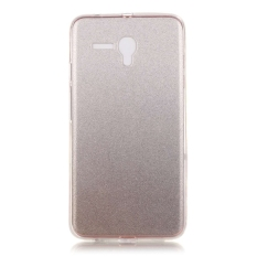 Ultra Slim Fit Soft TPU Phone Back Case Cover For Alcatel OneTouch Pop 3 5.5 inch (Silver)