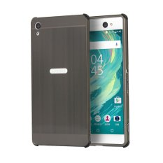 Ultra Slim Bingkai Logam Bumper Case dengan Efek Cermin Hard PC Back Cover untuk Sony Xperia XA Ultra (Hitam) -Intl