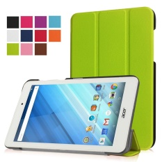 Ultra Slim Tri-Fold PU Leather Screen Protector Stand Flip Folio Shockproof Cover with Stand Function for Acer Iconia One 8 B1-850 Tablet