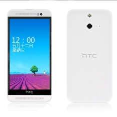 Ultra-thin 0.5mm Soft Flexible Clear TPU Snap-On Back Case Cover Protective Shell for HTC One E8 - Transparent