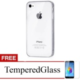 Harga Hemat Ultra Thin For Apple Iphone 4G 4S Putih Transparan Free Tempered Glass Clear