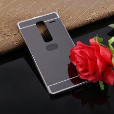 Ultra-Thin Luxury Logam Dilepas Mirror Back Cover Phone Case untuk LG Zero Kelas H740 Hitam-Intl