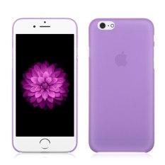 Ultra Tipis Semi Transparan Clear Matte Case untuk IPhone 6/6 S 4.7 (Violet) (LUAR NEGERI) -Intl