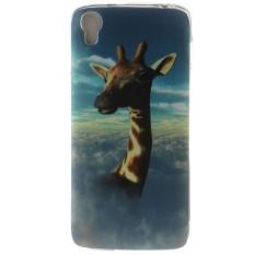 Ultra Tipis Lembut Tpu Telepon Kembali Case Cover untuk Alcatel One Touch Idol 3 4.7 Inch (Giraffe)