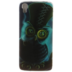 Ultra Tipis Lembut Tpu Telepon Kembali Case Cover untuk Alcatel One Touch Idol 3 4.7 Inch (Owl)