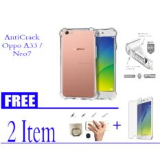Ultrathin Anti Shock  / AntiCrack  For Oppo A33/Neo7 Free Ring universal + temperd glass oppo a33