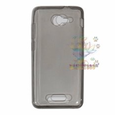 Ultrathin For Andromax B Ultrathin Jelly Air Case 0.3mm Soft Backcase / Silicone / SoftCase / Soft Backcase / Casing Hp - Hitam Transparan