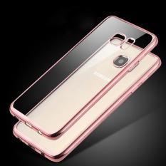 LOLLYPOP Ultrathin TPU Shining Chrome Case For Samsung Galaxy A7 2016 - Rose Gold/Emas Merah Muda J