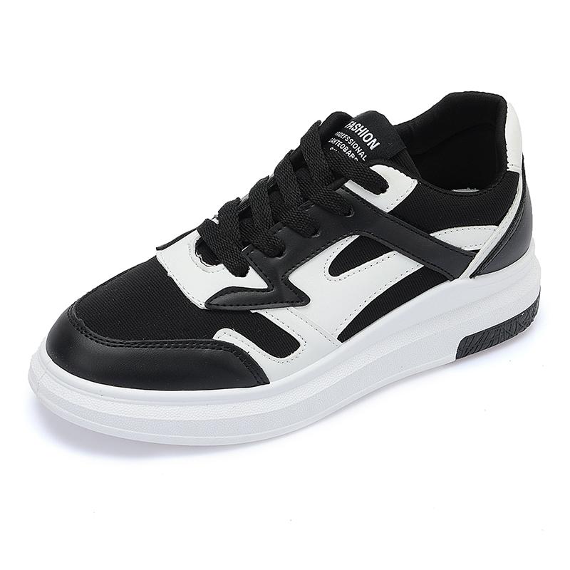 Jual Ulzzang Korea Fashion Style Angin Mantra Warna Sepatu Sekolah Sepatu Sneakers Hitam Online Di Tiongkok