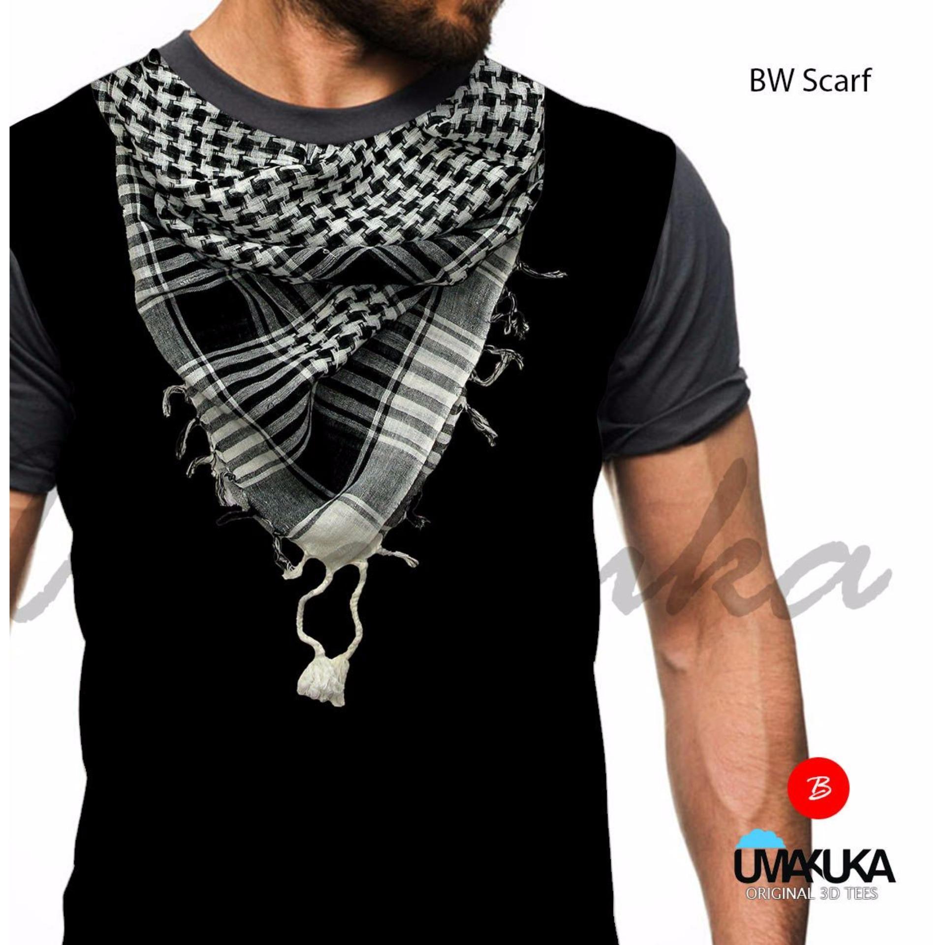 Umakuka Original Kaos 3D Pria / Wanita Dewasa Full Print - Suit BW SCARFT