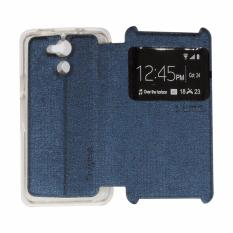 Ume Acer Liquid Z410 / Acer Z410 Ukuran 4.5 inch View / Flip Cover /Flipshell / Leather Case  / Sarung Case / Sarung Handphone / Sarung HP Acer Z410 - Biru Tua