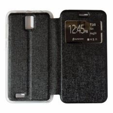 Harga Ume Flip Cover Advan Vandroid I5E Flip Leather Cover Kulit Sintetis With Silicone Interior Flip Shell Leather Faux Sarung Phone Case Advan Vandroid I5E Flip Cover Flipshell Hitam Ume Terbaik