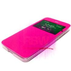 Ume Flip Cover Asus Zenfone 3 Laser ZC551KL Pink / Leather Case Zenfone 3 Laser  View / Flipcover Asus Zenfone ZC551KL Windows View / Dompet Zenfone / Wallet Phone Bag / Phone Case Hp / Sarung Case / Casing  Zenfone 3 Laser - Pink