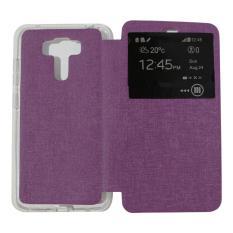 Ume Flip Cover Asus Zenfone 3 Laser ZC551KL Purple / Leather Case Zenfone 3 Laser  View / Flipcover Asus Zenfone ZC551KL Windows View / Dompet Zenfone / Wallet Phone Bag / Phone Case Hp / Sarung Case / Casing  Zenfone 3 Laser - Ungu