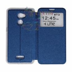 Ume Coolpad Fancy 3 E503 Ukuran 5.0 Inch View / Flip Cover / Flipshell / Leather Case Fancy3 / Sarung HP / Sarung Coolpad Fancy 3 - Biru Tua