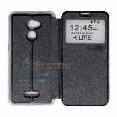 Ume Coolpad Fancy 3 E503 Ukuran 5.0 Inch View / Flip Cover / Flipshell / Leather Case Fancy3 / Sarung HP / Sarung Coolpad Fancy 3 - Hitam