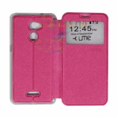 Ume Coolpad Fancy 3 E503 Ukuran 5.0 Inch View / Flip Cover / Flipshell / Leather Case Fancy3 / Sarung HP / Sarung Coolpad Fancy 3 - Pink