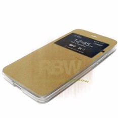 Ume Flip Cover Huawei Ascend Y511 Emas / Leather Case View Huawei  Y511 / Flipcover Windows View Huawei Y511 / Flipshell / Casing Huawei - Gold