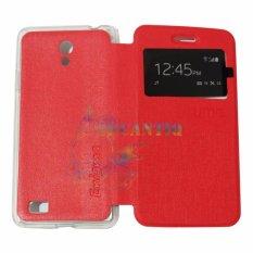 Ume Oppo Joy 3 / Oppo A11W / Oppo A11 View / Flip Cover / Flipshell / Leather Case / Sarung HP / Sarung Oppo Joy 3 - Merah