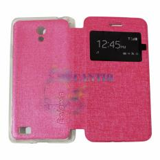 Ume Oppo Joy 3 / Oppo A11W / Oppo A11 View / Flip Cover / Flipshell / Leather Case / Sarung HP / Sarung Oppo Joy 3 - Pink