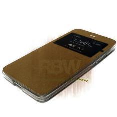 Ume Flip Cover Oppo Joy R1001 Coklat / Leather Case Oppo R1001 View / Flipcover Oppo Joy Windows View / Dompet Oppo / Wallet Phone Bag / Phone Case Hp / Sarung Case / Casing Oppo Joy R1001 - Brown