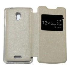 Ume Flip Cover Oppo Joy R1001 Putih / Leather Case Oppo R1001 View / Flipcover Oppo Joy Windows View / Dompet Oppo / Wallet Phone Bag / Phone Case Hp / Sarung Case / Casing Oppo Joy R1001 - White