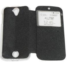 Ume Acer Liquid Z320 / Acer Liquid Z330 / Acer Z320 / Acer Z330 Ukuran 4.5 Inch Flipshell / Flip Cover Acer Z320/Z330 / Leather Case / Sarung Case / Sarung Handphone / View - Hitam