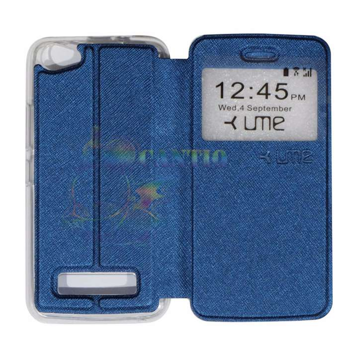 Ume Himax M2 View / Flip Cover / Flipshell / Leather Case / Sarung Handphone / Sarung HP / Sarung Himax M2 - Biru Tua