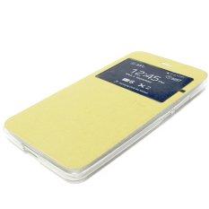 Ume Flip Cover untuk Meizu M2 Note - Emas + Gratis Ultrathin