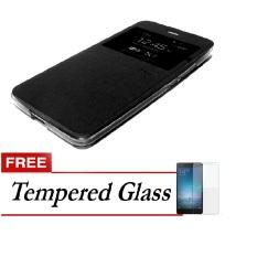 Ume Flip Cover Untuk Samsung Galaxy J510 J5 2016 Hitam Gratis Tempered Glass Di Dki Jakarta