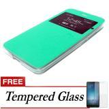 Beli Ume Flip Cover Untuk Zte Blade A711 4G Lte Hijau Gratis Tempered Glass Online