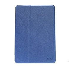 Ume Flip Leather Case Cover For Ipad 3 - Biru Dongker