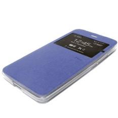Ume FlipCover ASUS ZenFone Go Ukuran 4.5 Inch ZC451TG Flip Shell / Leather Case / Sarung hp - Biru Tua