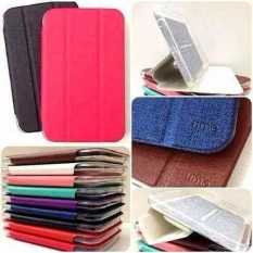 UME Flipcover Flipshell Samsung Galaxy Tab 3 v T110 T116 Leather Case Sarung Tablet – Hijau Tosca