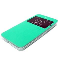 UME Flipcover Flipshell Sarung Hp Samsung Galaxy E7 E700 dompet Samsung E7 - Hijau Tosca