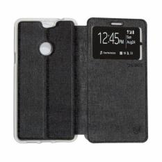 Ume CoolPad Max View / Flip Cover / Flipshell / Leather Case / Sarung Case / Sarung Handphone / Sarung HP Coolpad Max - Hitam