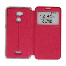 Ume Leather Case Coolpad Fancy 3 E503 Ukuran 5.5 Inch / Flipshell / Flip Cover Sarung Kulit / Sarung Case Coolpad Fancy 3 / Sarung HP / Sarung Handphone View / Casing Coolpad Fancy 3 E503 - Red