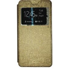 Ume Acer Liquid Jade S55 / Acer S55 Ukuran 5.0 Inch Flipshell / Flip Cover Acer S55 / Leather Case / Sarung Case / Sarung Handphone / View - Gold