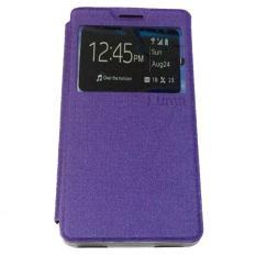 Ume Acer Liquid Jade S55 / Acer S55 Ukuran 5.0 Inch Flipshell / Flip Cover Acer S55 / Leather Case / Sarung Case / Sarung Handphone / View - Ungu