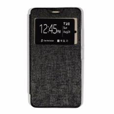 Ume Lenovo A7700 View / Flip Cover / Flipshell / Leather Case / Sarung HP / Sarung Lenovo A7700 - Hitam