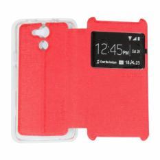 Ume Acer Liquid Z410 / Acer Z410 Ukuran 4.5 Inch View / Flip Cover / Flipshell / Leather Case  / Sarung HP / Sarung Acer Z410 - Merah
