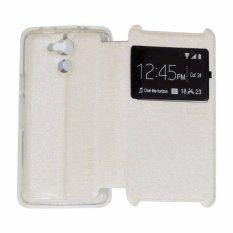 Ume Acer Liquid Z410 / Acer Z410 Ukuran 4.5 Inch View / Flip Cover / Flipshell / Leather Case  / Sarung HP / Sarung Acer Z410 - Putih