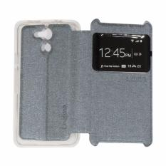 Ume Acer Liquid Z410 / Acer Z410 Ukuran 4.5 Inch View / Flip Cover / Flipshell / Leather Case  / Sarung HP / Sarung Acer Z410 - Silver
