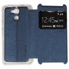 Ume Acer Liquid Z410 / Acer Z410 Ukuran 4.5 Inch Flipshell / Flip Cover / Leather Case / Sarung Case Samsung Acer Z410 / Sarung Handphone / Sarung HP Kulit / View - Biru Tua