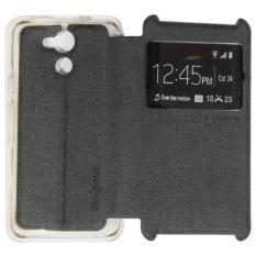Ume Acer Liquid Z410 / Acer Z410 Ukuran 4.5 Inch Flipshell / Flip Cover Acer Z410 / Leather Case / Sarung Case / Sarung Handphone / Sarung Hp Kulit / View - Hitam
